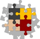 Four puzzle pieces. Illustration Royalty Free Stock Images