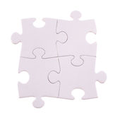 Four Puzzle pieces Royalty Free Stock Photos