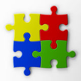 Four puzzle pieces to place concepts Stock Images