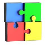 Four puzzle pieces Stock Images