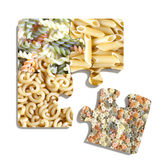 Four puzzle pieces on white background Royalty Free Stock Image