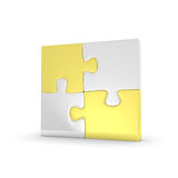 Four puzzles Royalty Free Stock Photography