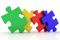Four puzzles Royalty Free Stock Photo