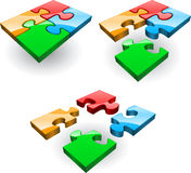 Four puzzles Stock Images