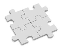 Four puzzles. On whihe background Royalty Free Stock Photos