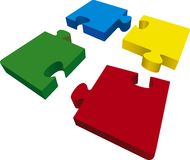 Four puzzles Royalty Free Stock Photos