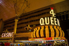 Four Queens Casino in Fremont Street, Las Vegas Royalty Free Stock Photography