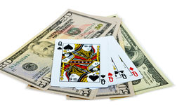 Four Queens And Dollars Royalty Free Stock Photos