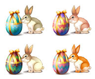 Four rabbit in different colors Royalty Free Stock Photos