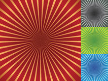 Four radial backgrounds Royalty Free Stock Photo