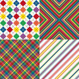 Four Rainbow Colored Patterns. Illustration of bright rainbow colored background patterns Royalty Free Stock Photography