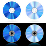 Four realistic CD and DVD Stock Photography