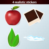 Four realistic stickers Stock Photo