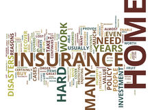 Four Reasons Why You Need To Buy Home Insurance Text Background Word Cloud Concept Stock Image