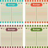 Four Recipe Cards Royalty Free Stock Photos