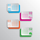 Four rectangles options infographic. Infographic background for your business and design Royalty Free Stock Photo