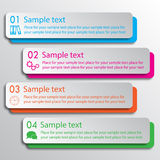 Four rectangles options infographic Royalty Free Stock Photography