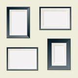 Four Rectangular Frames Royalty Free Stock Photos