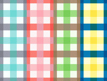 Four rectangular seamless patterns with motley stripes Stock Image