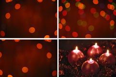 Four red candle Stock Images