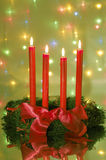 Four red candle Stock Image