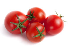 Four Red Cherry Tomatoes Royalty Free Stock Image