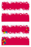 Four red christmas headers Royalty Free Stock Photography