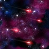 Four red comets Stock Images