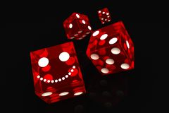 Four red dice Royalty Free Stock Images