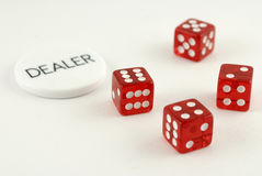 Four Red Dice Royalty Free Stock Image