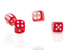 Four Red Dice Royalty Free Stock Photo
