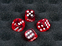 Four Red Dices Stock Photography