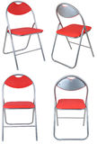 Four red folding chairs Royalty Free Stock Image
