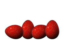 Four red and golden Easter eggs Royalty Free Stock Photos