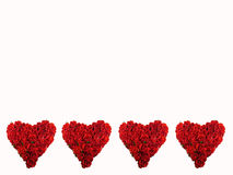 Four red hearts Royalty Free Stock Photography