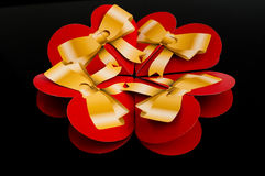 Four red hearts. On a black background Royalty Free Stock Image