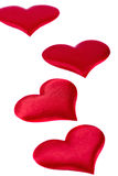 Four red hearts Royalty Free Stock Images