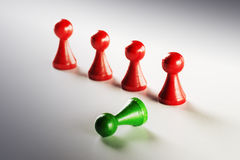 Red and green Ludo figures Stock Photography