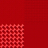 Four red pattern Stock Photo