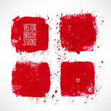 Four red stroke backgrounds Royalty Free Stock Photography