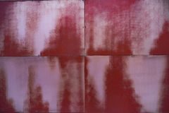 Four red and white squares combined together royalty free stock image