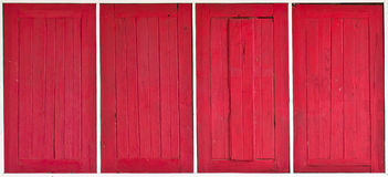 The Four Red window Stock Images