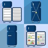 Four refrigerators Royalty Free Stock Photo