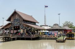 Four region and floating market in  the noon at Chonburi City Th Royalty Free Stock Photos