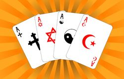 Four religious aces Royalty Free Stock Photography
