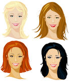 Four representative of women Royalty Free Stock Photos