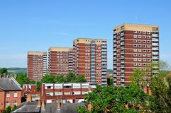 Four residential tower blocks. Royalty Free Stock Images