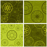 Four retro backgrounds Royalty Free Stock Images
