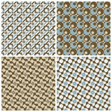 Four Retro Patterns Stock Images