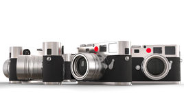 Four retro style photo cameras Royalty Free Stock Images